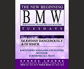 BMW Tuesdays at Sforza Lounge - designed by Digital