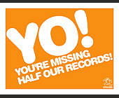 Yo! You're Missing Half Our Records! - Music Industry Graphic Designs