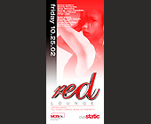 Red Lounge at Club Static - tagged with carlos caldera