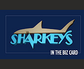 Sharkeys In The Biz Card - tagged with shark