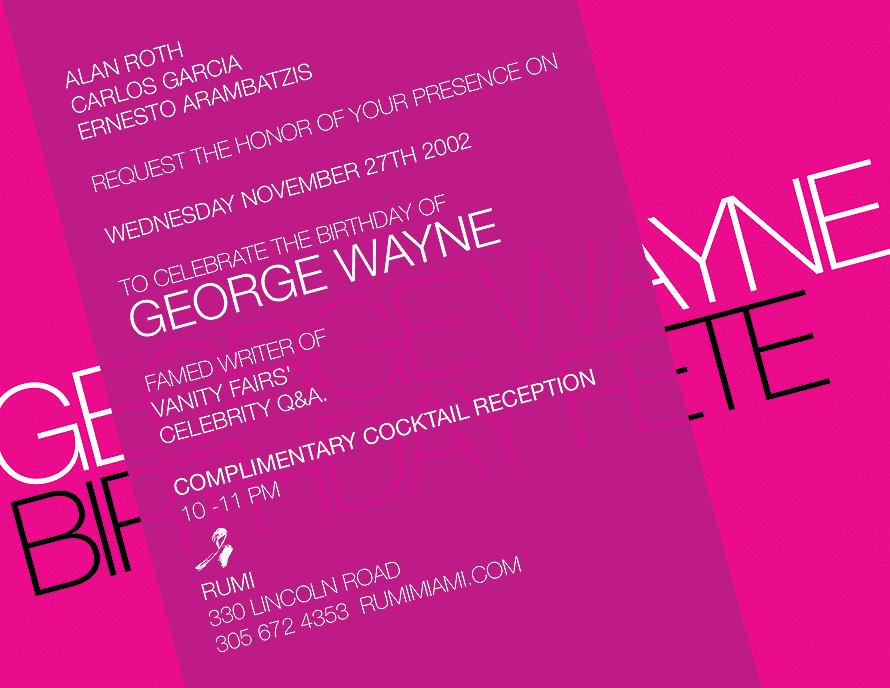 George Wayne Birthday at Rumi Restaurant and Lounge