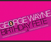 George Wayne Birthday at Rumi Restaurant and Lounge - 1275x1650 graphic design
