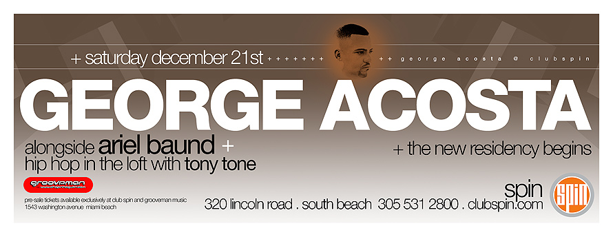 George Acosta at Spin Nightclub