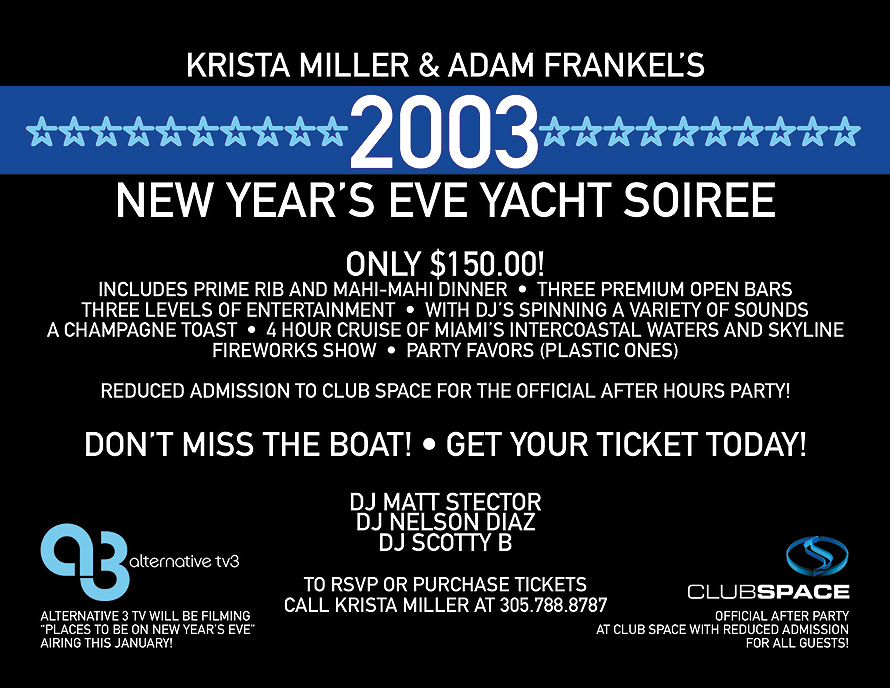 New Years Eve Yacht Soiree
