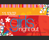 Tiger Lounge Girls Night Out  - 2.75x4.25 graphic design
