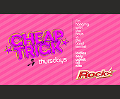 Cheap Trick Thursdays at Rumi - 538x913 graphic design