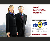Cricket Cleaners - West Palm Beach Graphic Designs