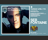 Perfecto Presents Seb Fontaine - 1375x2125 graphic design