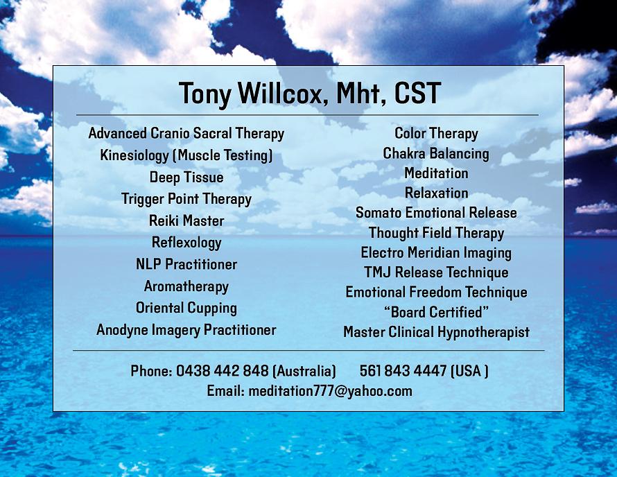 Tony Willcox ST Advanced Cranio Sacral Therapy