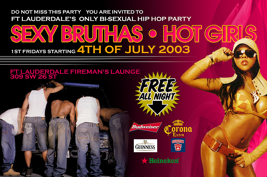 Ft. Lauderdale's Only Bi-Sexual Hip Hop Party