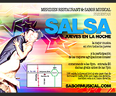 Meridien Restaurant and Sabor Musical - 4.25x5.5 graphic design