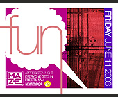 Fun at Maze Nightclub - 4.25x5.5 graphic design