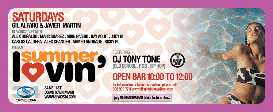 Saturdays Gil Alfaro and Javier Martin Present Summer Lovin'
