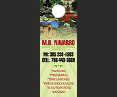 M.D. Navarro Lawn and Landscaping Services - Doorhanger Graphic Designs