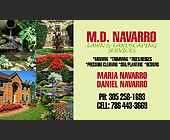 M.D. Navarro Lawn & Landscaping Services - Agriculture and Farming Graphic Designs