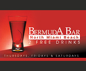 Bermuda Bar 2 Free Drinks  - Bermuda Bar Graphic Designs