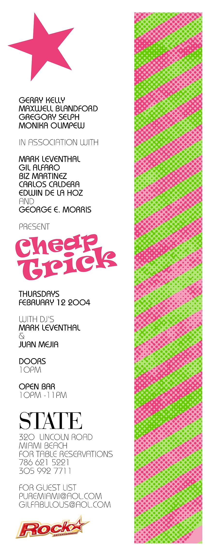 Cheap Trick Thursdays at State Nightclub