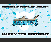 Happy 7th Birthday Sharkeys - 1375x2125 graphic design