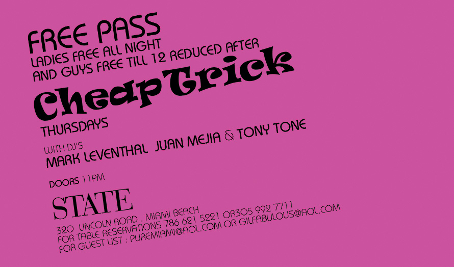 Cheap Trick Event at State Nightclub