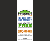 Premier Siding and Roofing - 4.25x11 graphic design