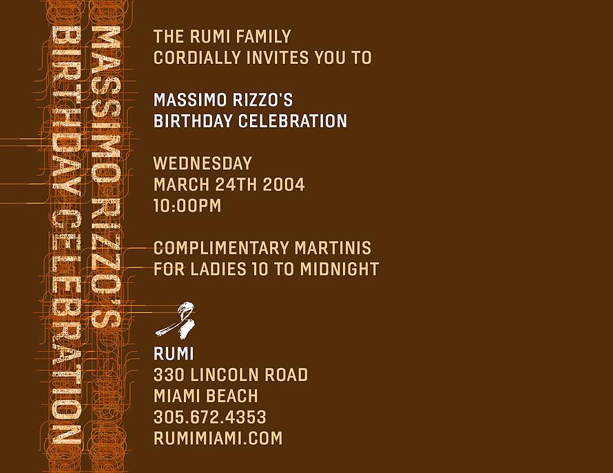 Massimo Rizzo's Birthday Celebration