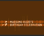 Massimo Rizzo's Birthday Celebration - 4.25x5.5 graphic design