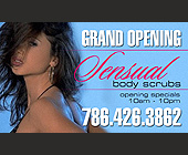 Grand Opening Sensual Body Scrubs - tagged with 10pm