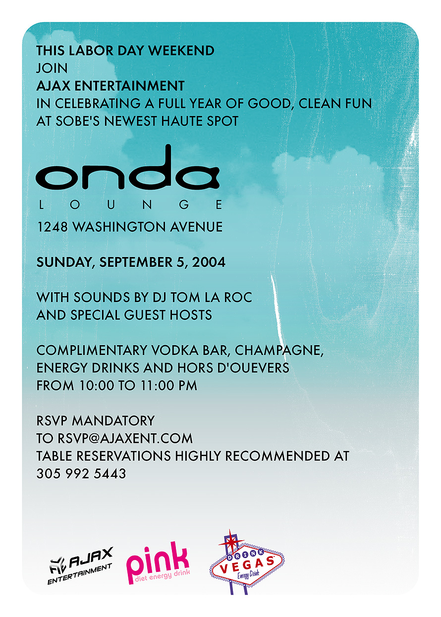 Good, Clean Fun at Onda Lounge