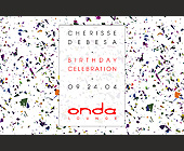 Onda Lounge Birthday Celebration - 2.75x4.25 graphic design