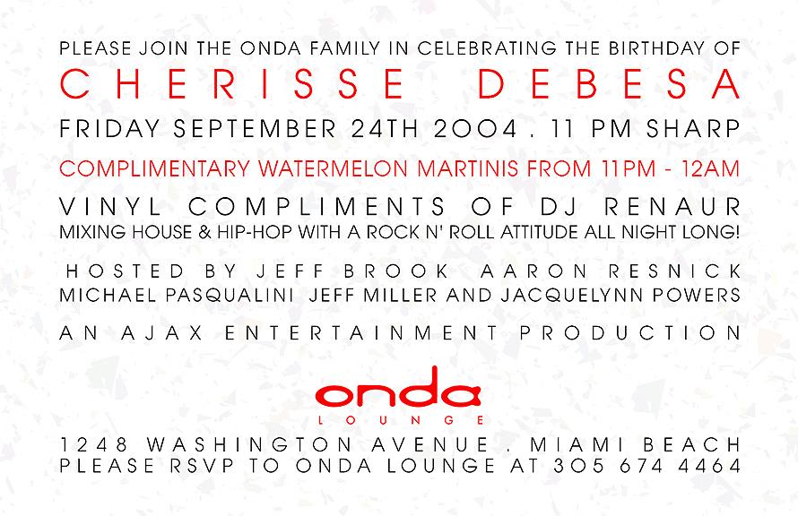 Onda Lounge Birthday Celebration