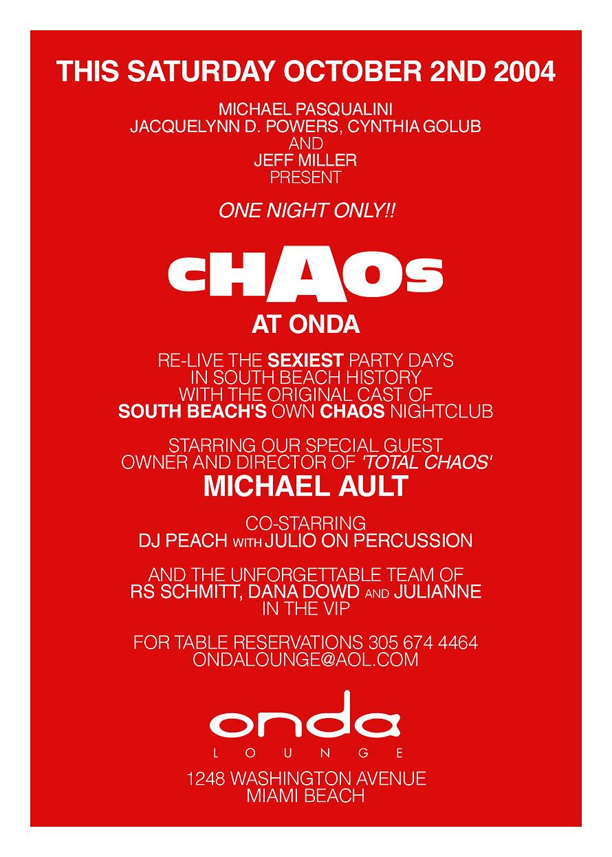Chaos at Onda