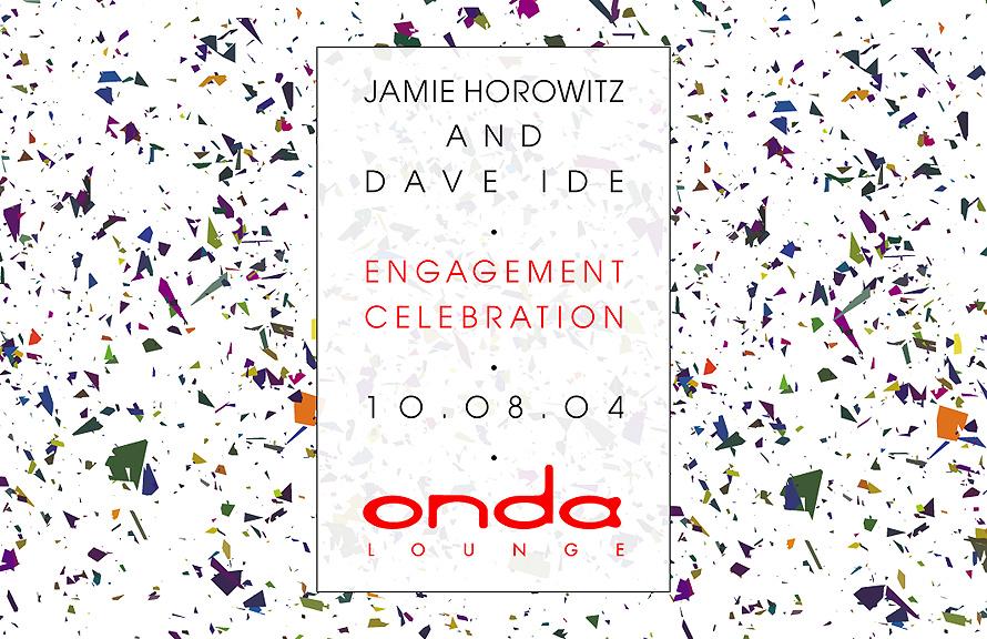 Jamie Horowitz and Dave Ide Engagement Celebration