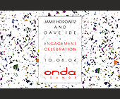 Jamie Horowitz and Dave Ide Engagement Celebration - 2.75x4.25 graphic design