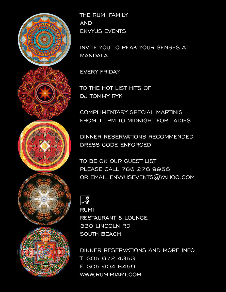 Mandala Fridays at Rumi
