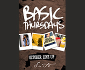 Basic Thursdays Octoober Line Up at Suite - tagged with for table res