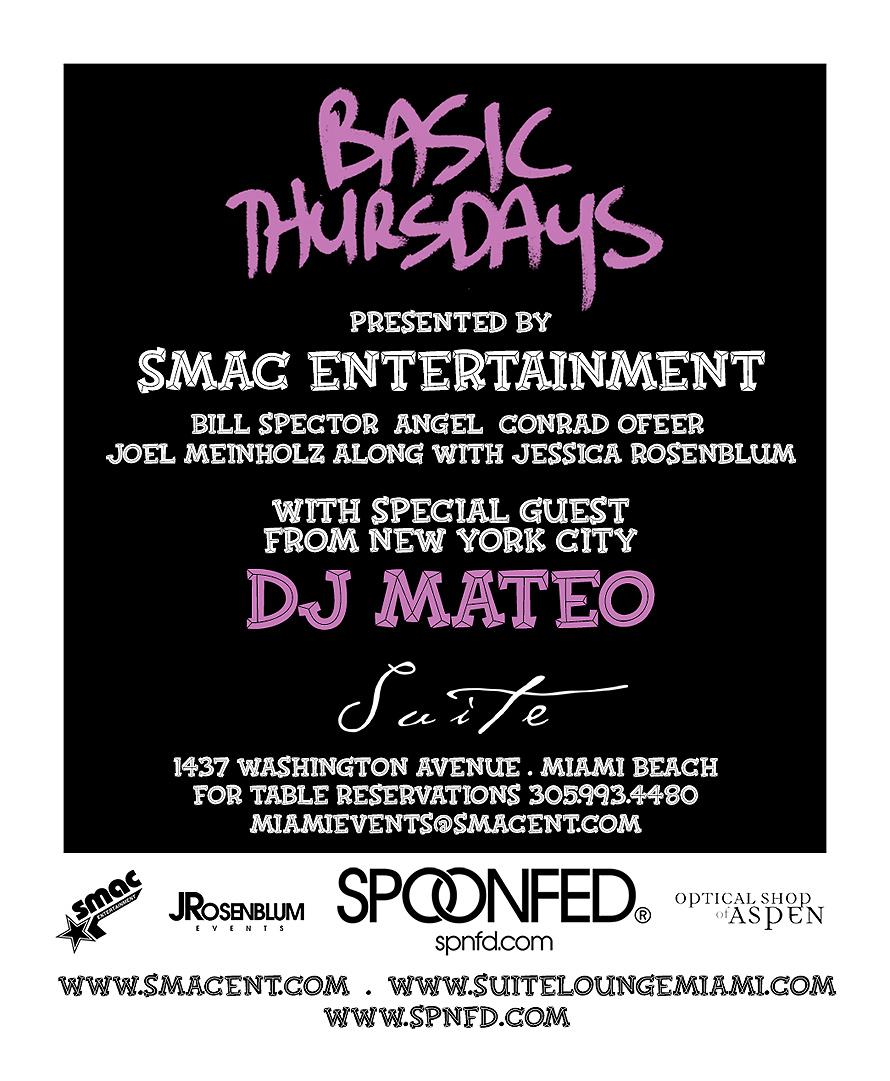 Smac Basic Thursdays DJ Mateo