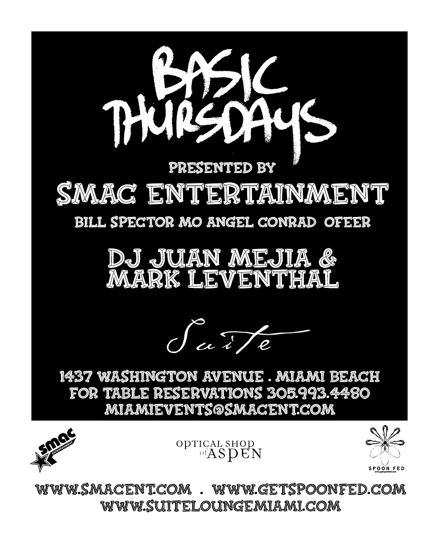 SMAC Entertainment Presents Basic Thursdays