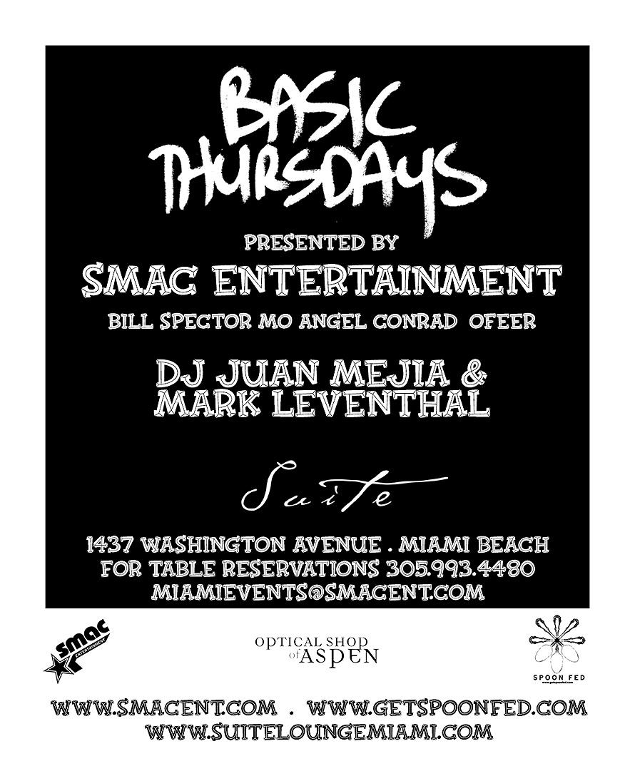 SMAG Presents Basic Thursdays at Suite