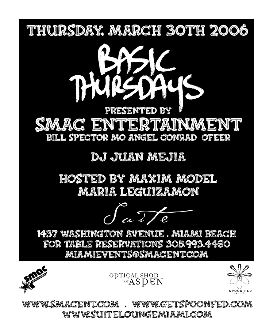 SMAC Basic Thursdays Maxim