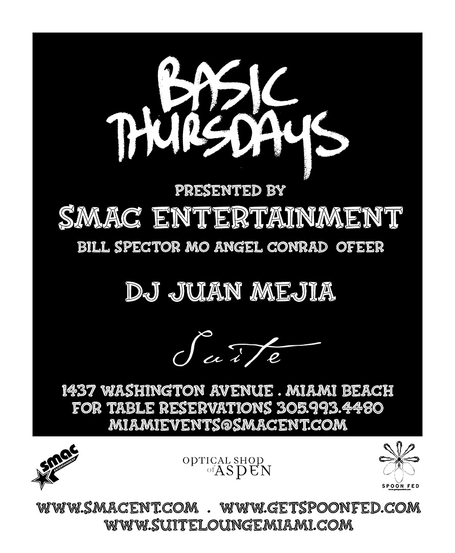 SMAC Basic Thursdays DJ Juan Mejia