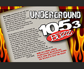 Underground 105.3 Buzz - Music Graphic Designs