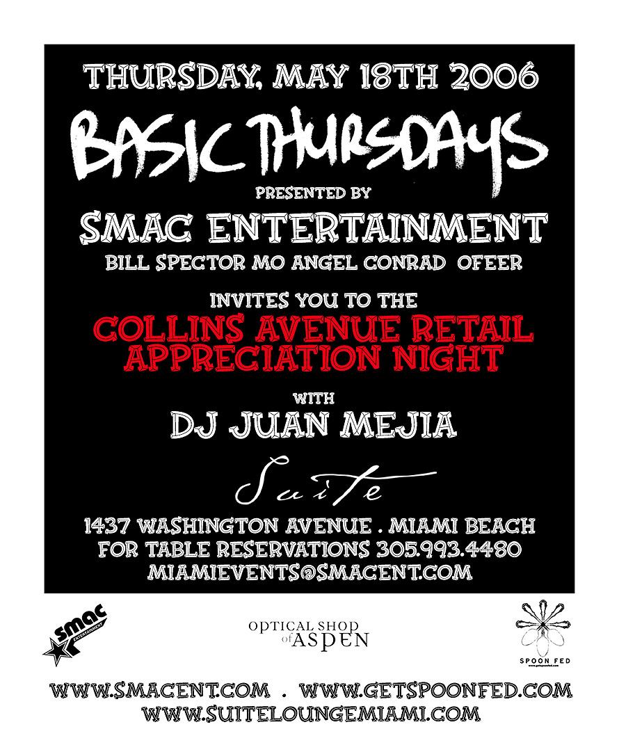 SMAC Basic Thursdays Collins Retail