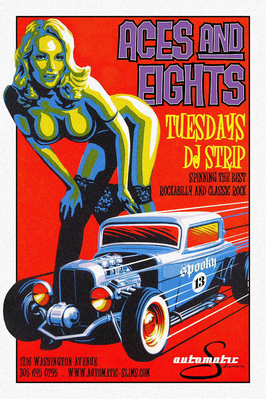 Aces and Eights Tuesdays DJ Strips Automatic Slims