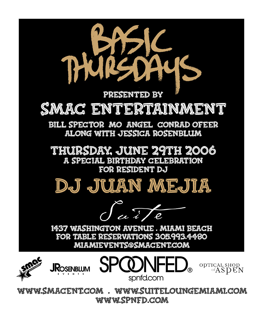SMAC Presents Basic Thursdays