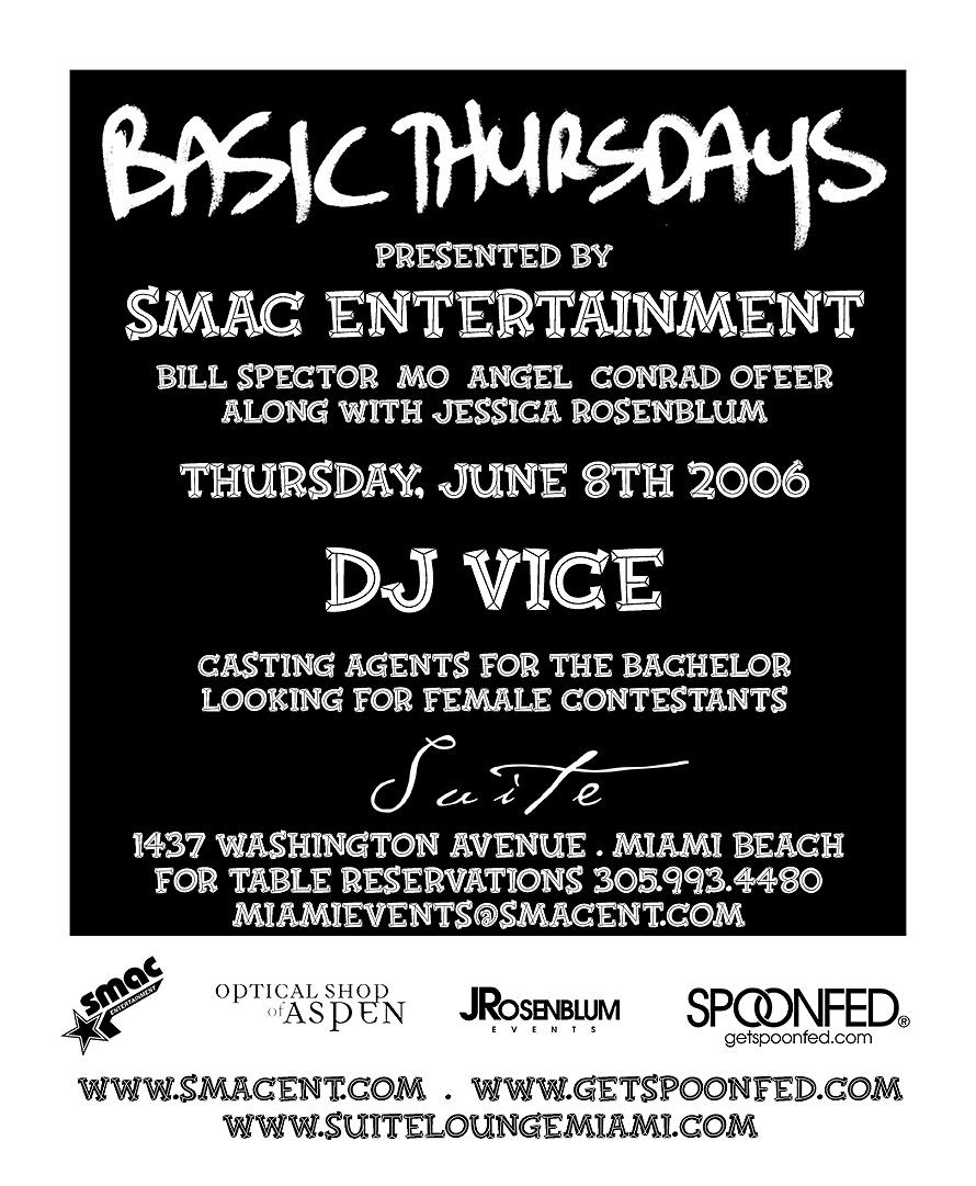 SMAC Presents Basic Thursdays at Suite Nightclub