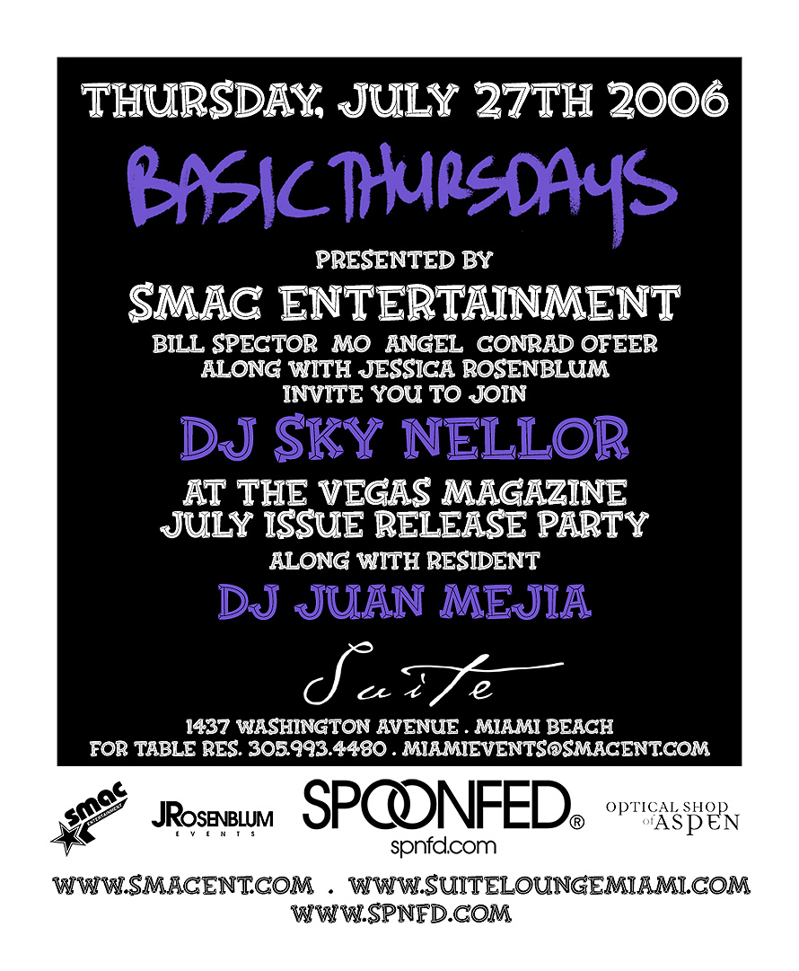 SMAC Entertainment Presents Basic Thursdays