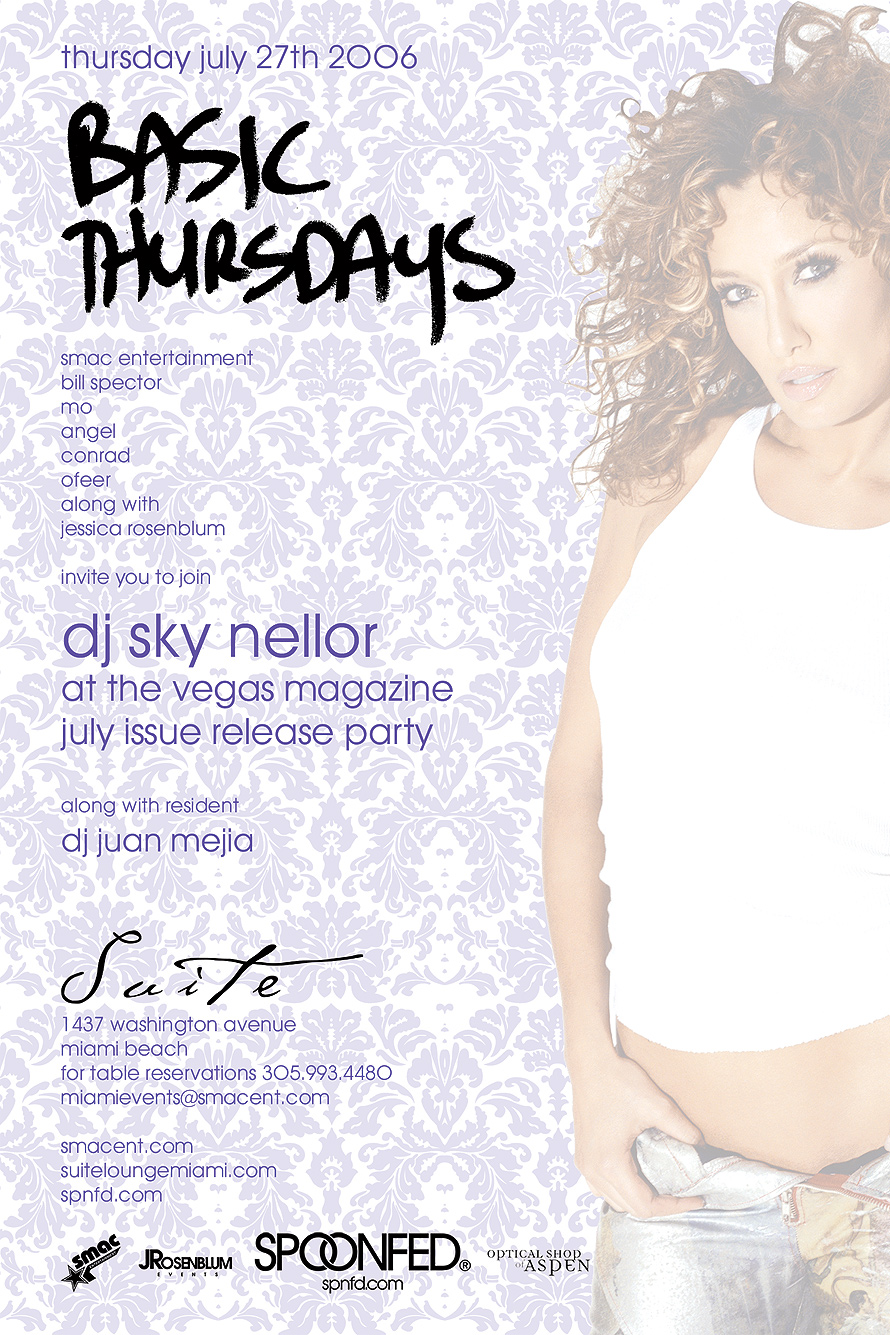 Basic Thursdays at Suite Nightclub with DJ Sky Nellor