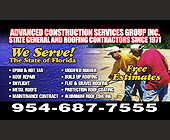 Advanced Construction Services Group Inc. - created July 2006