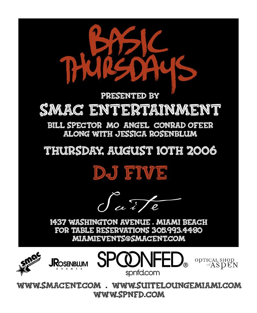 Basic Thursdays Presented by Suite Nightclub