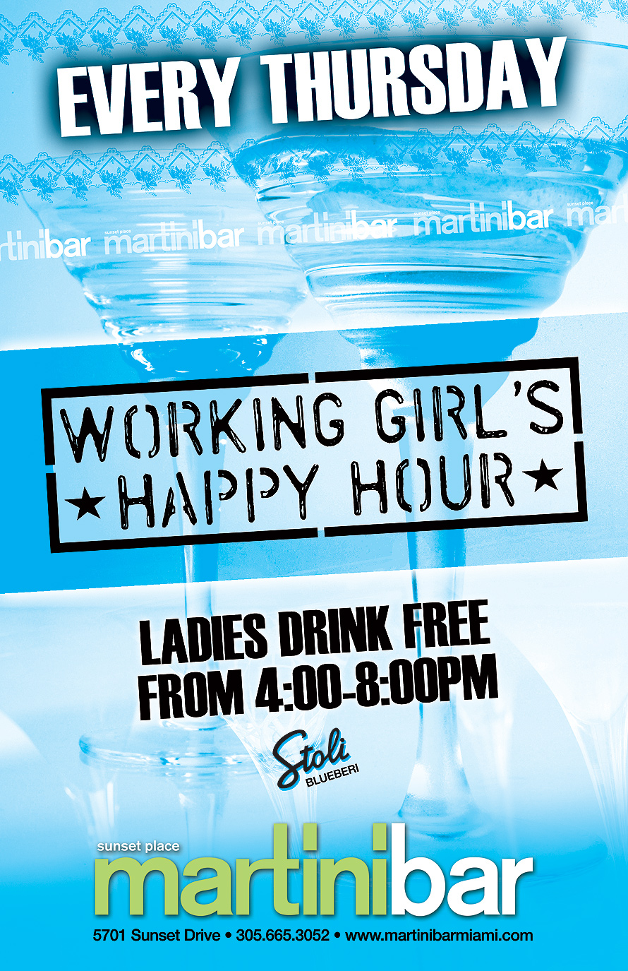 Working Girl's Happy Hour Martini Bar